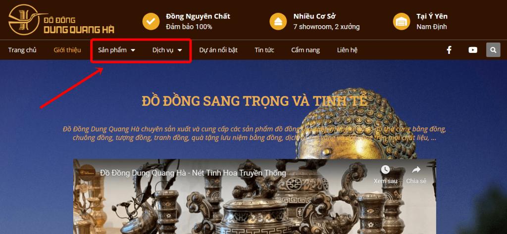 Hướng dẫn mua hàng online tại website Đồ Đồng Dung Quang Hà Sài Gòn