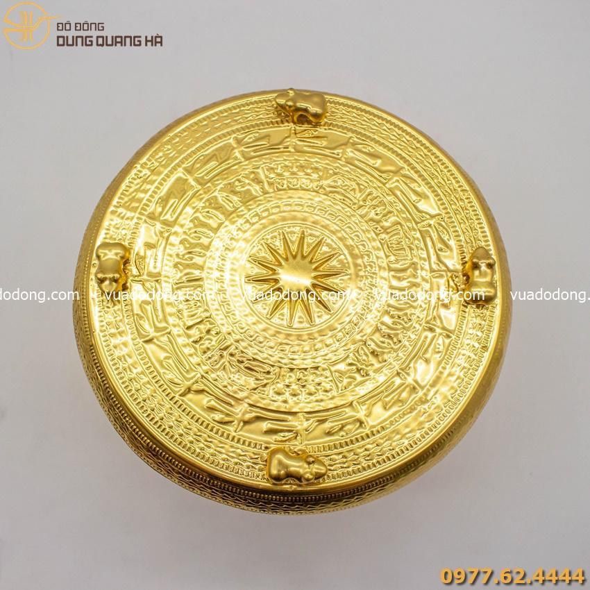 Quả trống đồng lưu niệm - dát vàng 9999