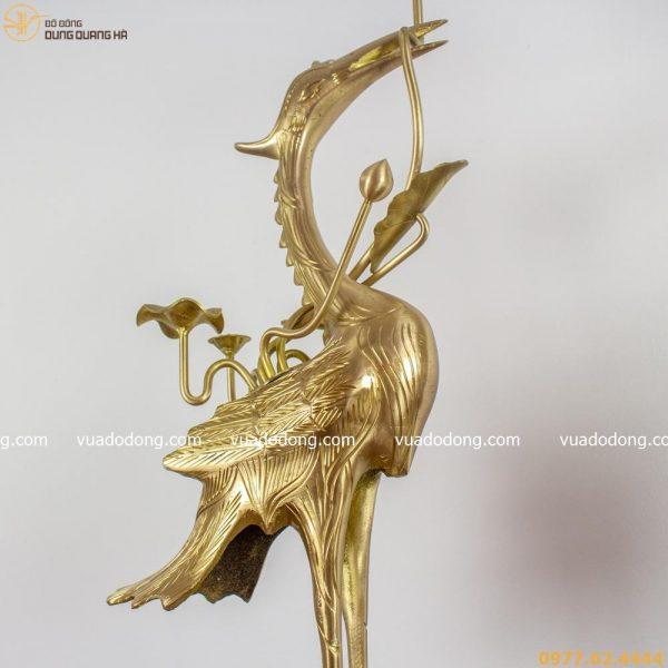 Hạc thờ bằng đồng vàng