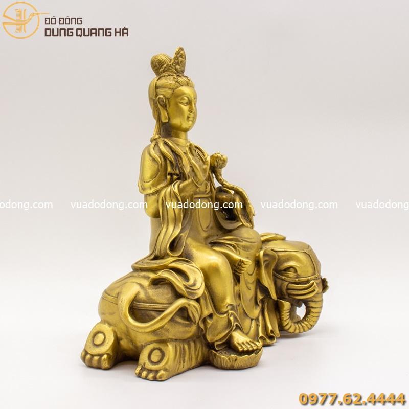 Tượng Phổ Hiền Bồ Tát bằng đồng vàng mộc