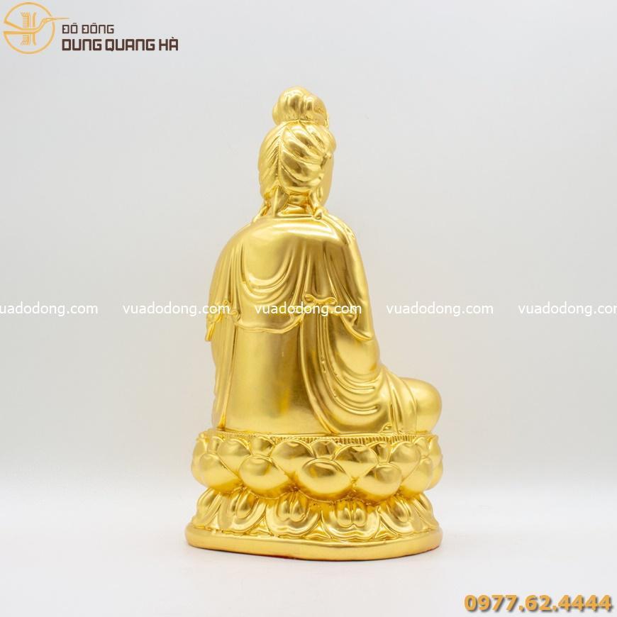 Tượng Đại Thế Chí Bồ Tát dát vàng 9999
