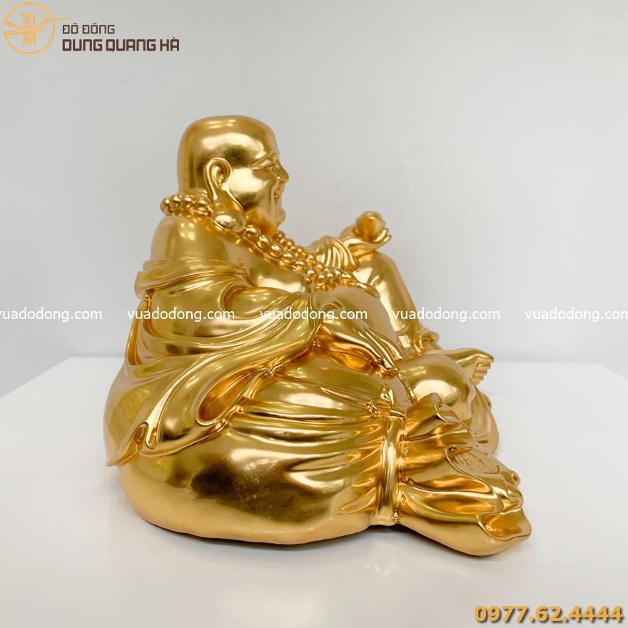 Tượng Di Lặc ngồi thếp vàng 9999