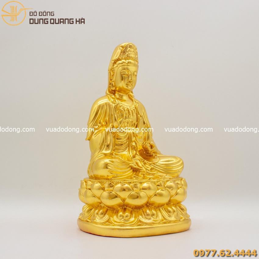 Tượng Phật Bà Quan Âm thếp vàng