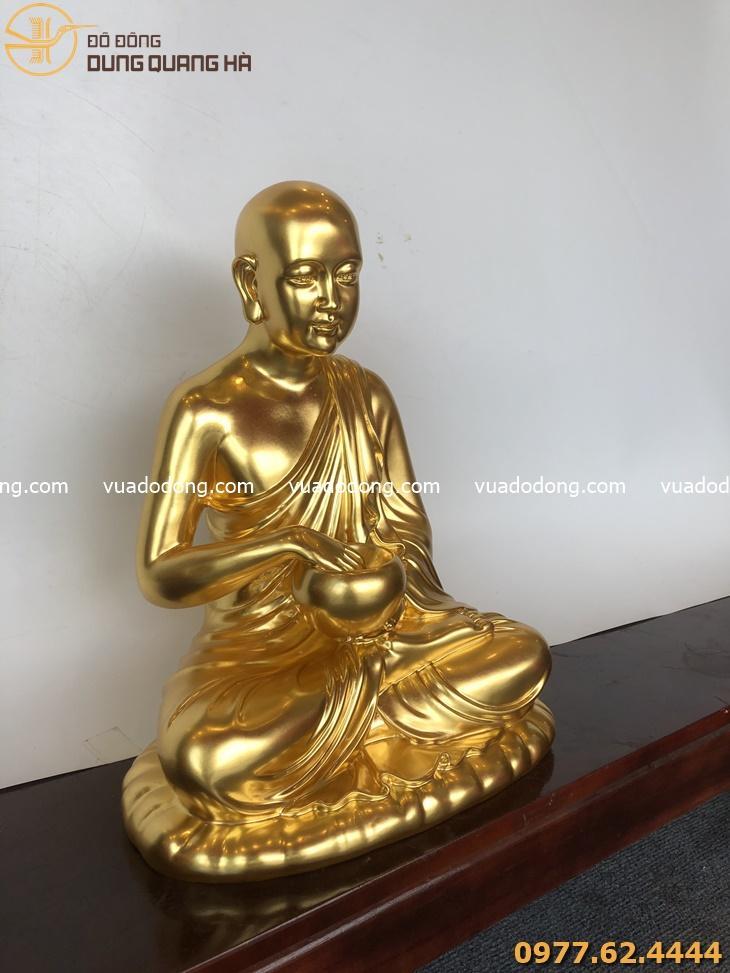 Tượng Phật Sivali bằng đồng thếp vàng
