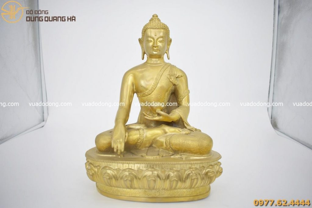 Tượng Phật Thái Lan bằng đồng vàng mộc