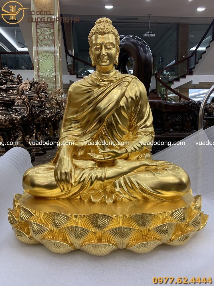 Tượng Phật Thích Ca ngồi thiền thếp vàng 9999