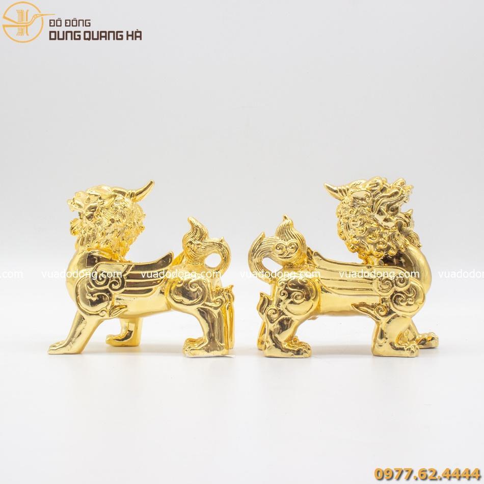 Cặp tỳ hưu mạ vàng 24k
