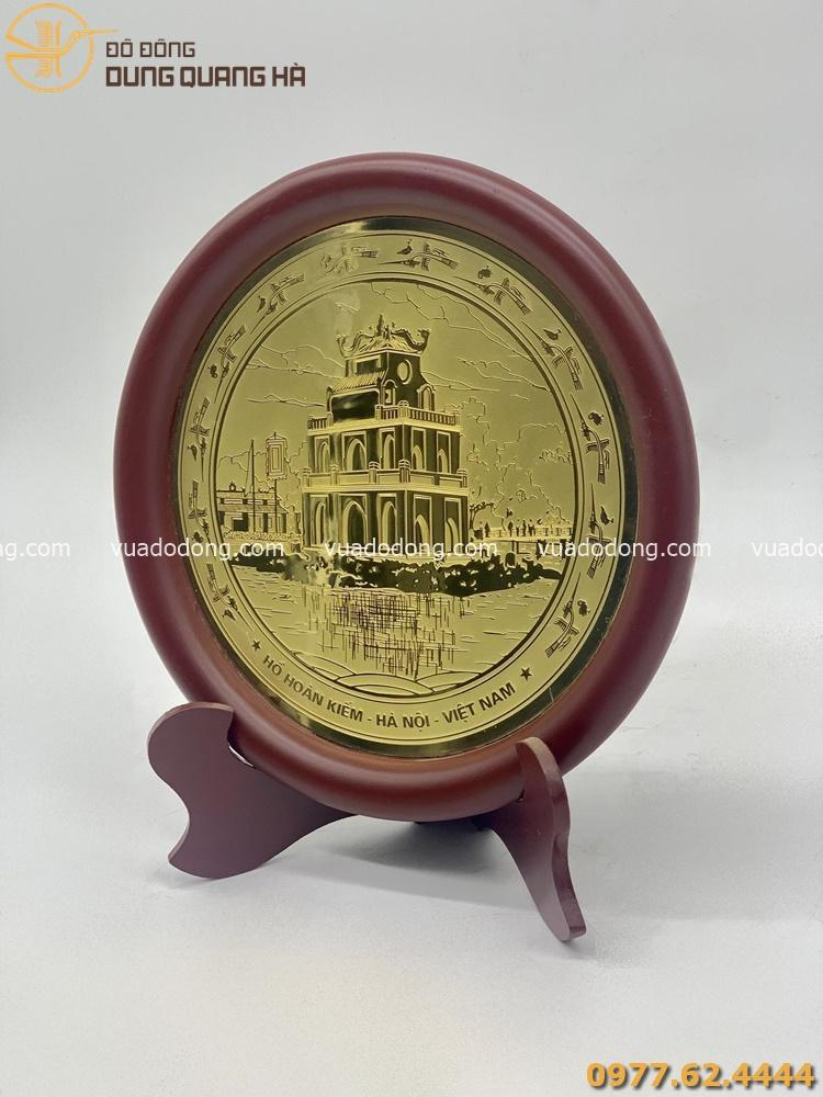 Đĩa đồng lưu niệm Tháp Rùa - Hồ Hoàn Kiếm
