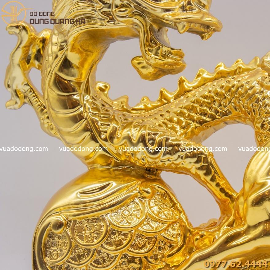 Tượng long mã mạ vàng 24k