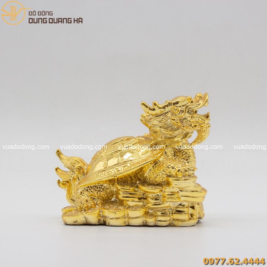 Tượng rùa đầu rồng mạ vàng 24k