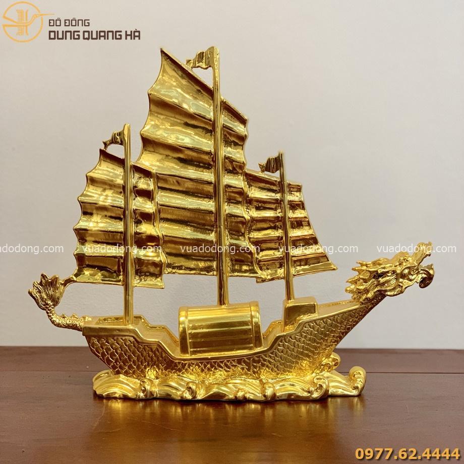 Thuyền rồng phong thủy mạ vàng
