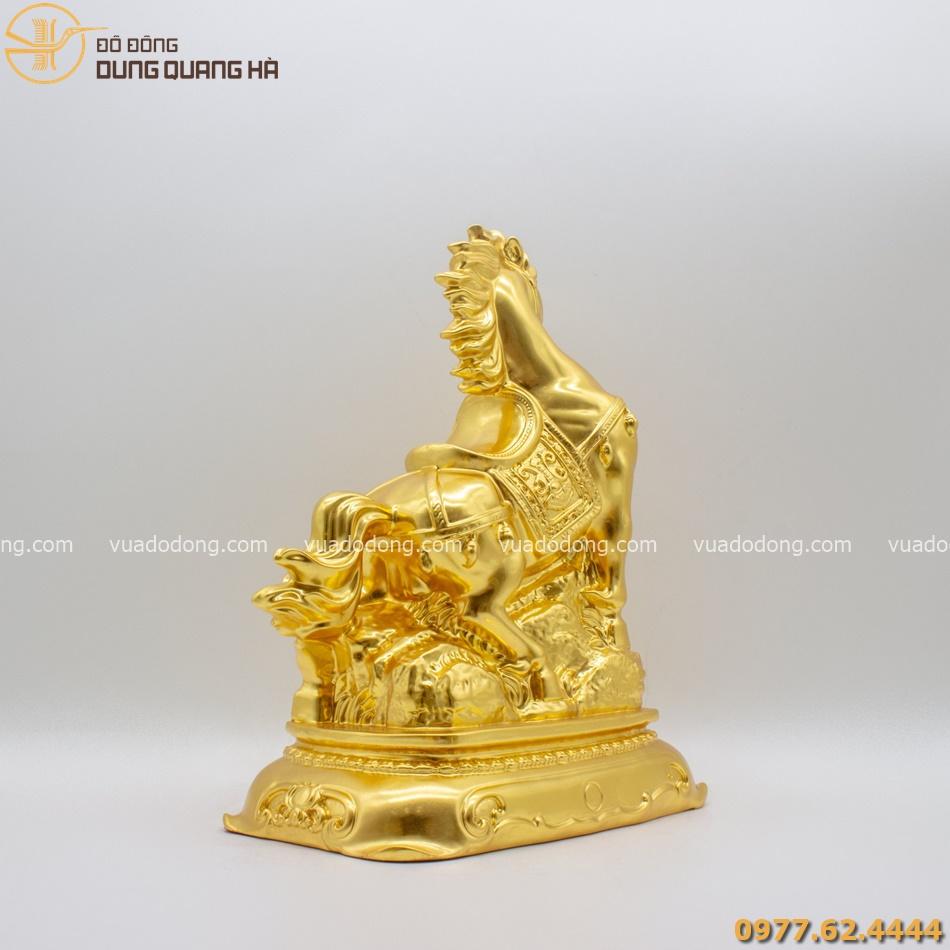 Tượng ngựa chiêu tài tấn bảo thếp vàng 9999