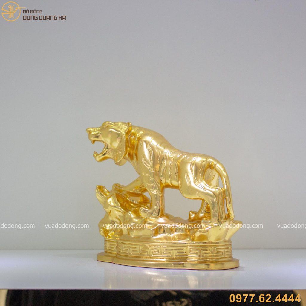 Tượng hổ oai nghiêm dát vàng 9999