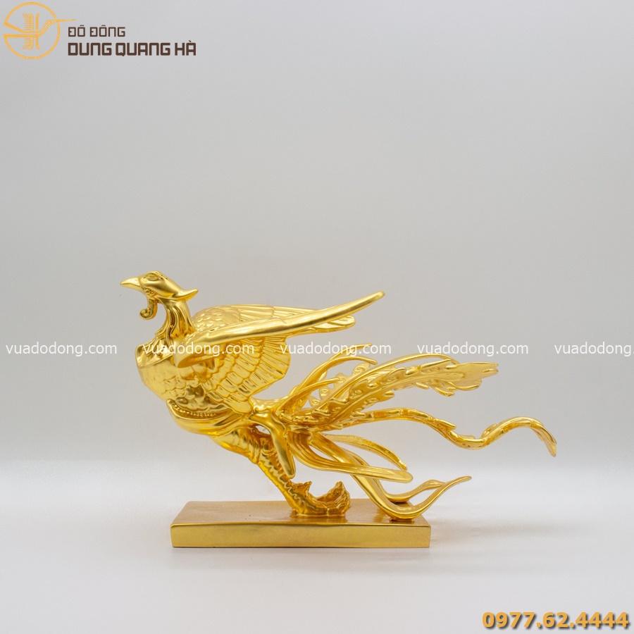 Tượng phượng hoàng thếp vàng 9999