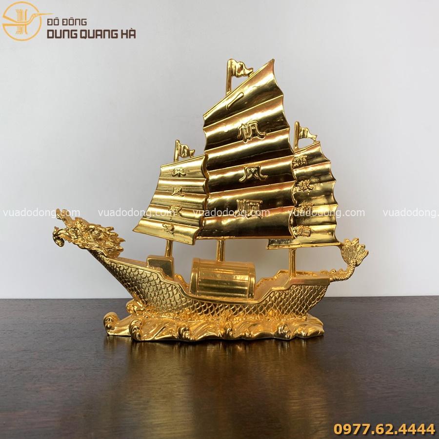 Thuyền Rồng phong thủy mạ vàng 24k