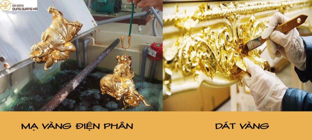 Mạ vàng và dát vàng