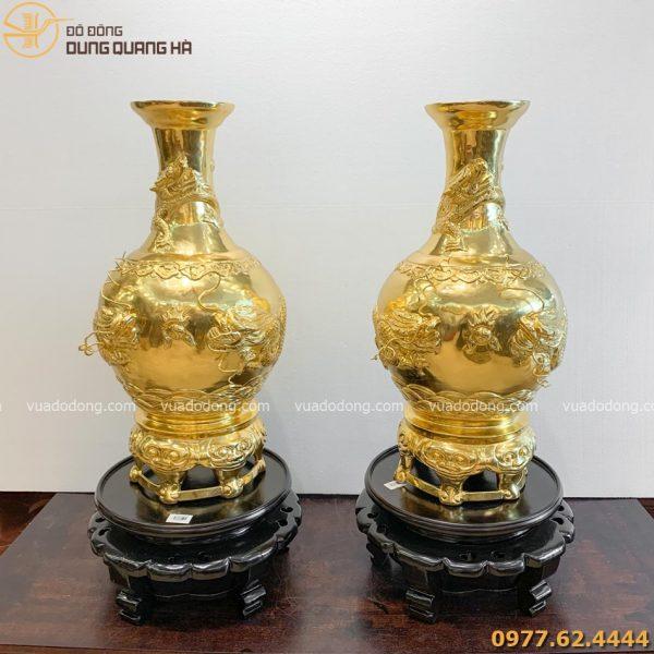 Lọ hoa phong thủy dát vàng 9999