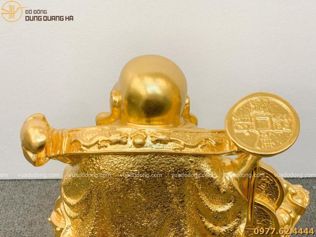 Tượng Di Lặc cưỡi long quy dát vàng