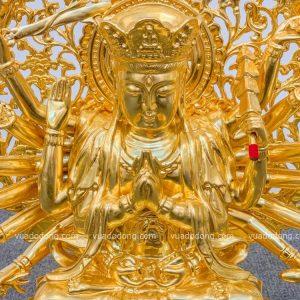 Tượng phật Chuẩn Đề dat vàng (1)