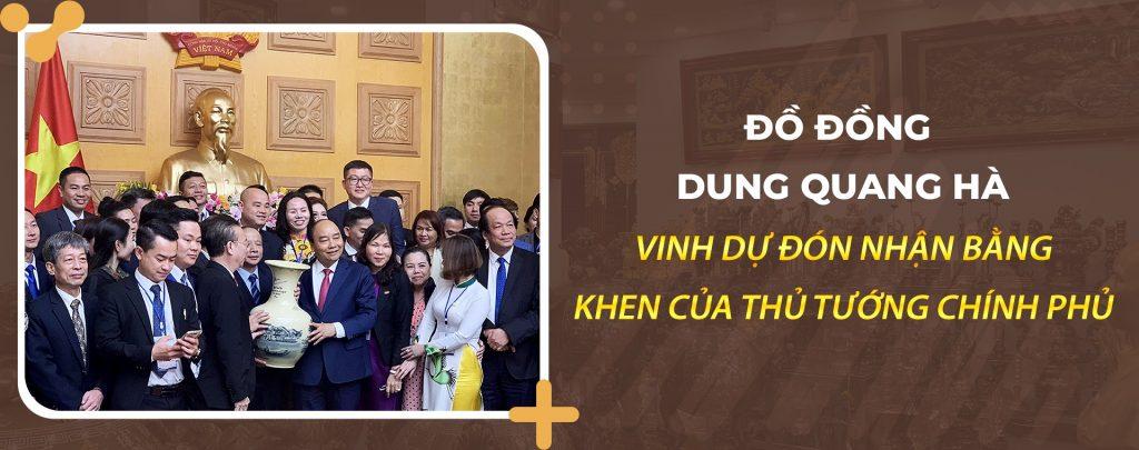 Vua Đồ Đồng Dung Quang Hà vinh dự nhận bằng khen của thủ tướng chính phủ