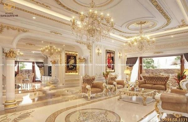 Trần thạch cao phòng khách