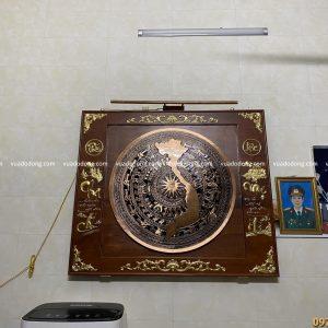 Mặt trống bản đồ đồng đỏ (1)