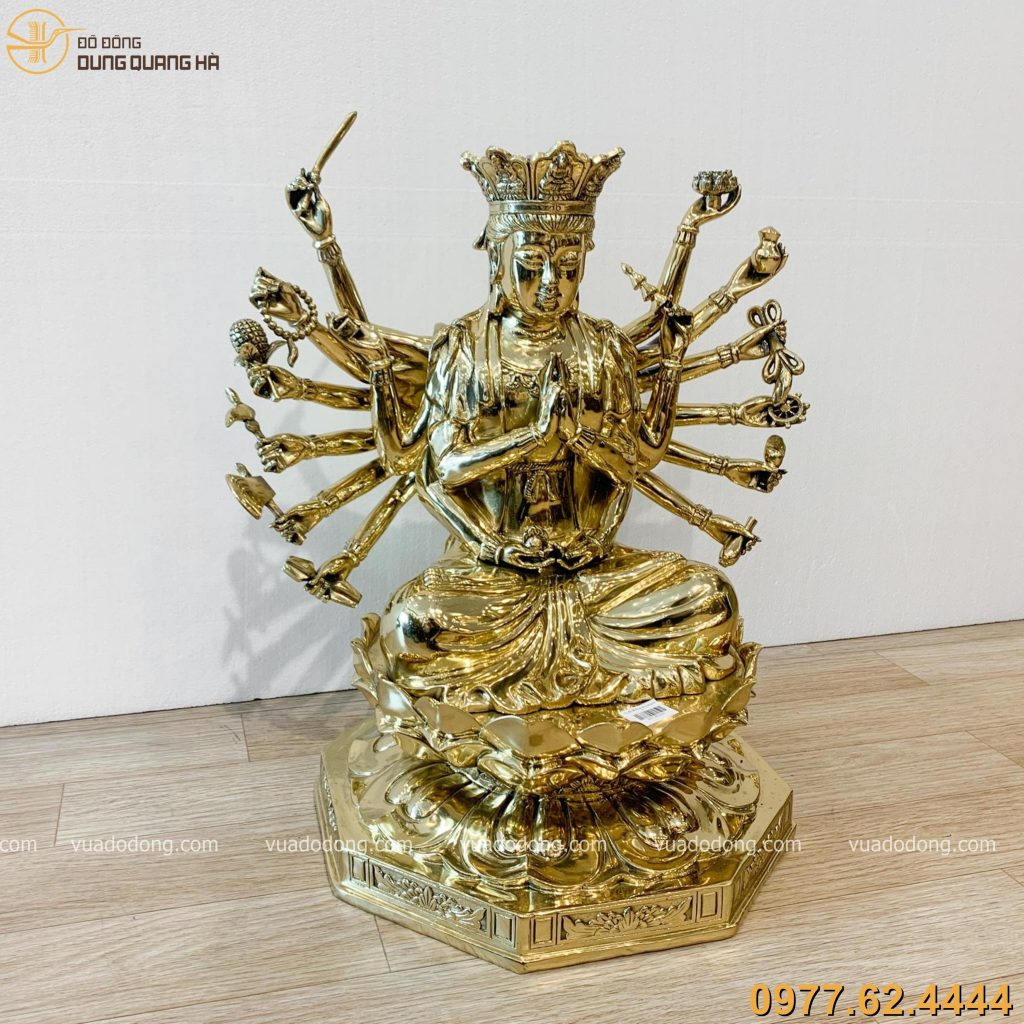 Tuong Chuan De dong vang bong 48cm (6)
