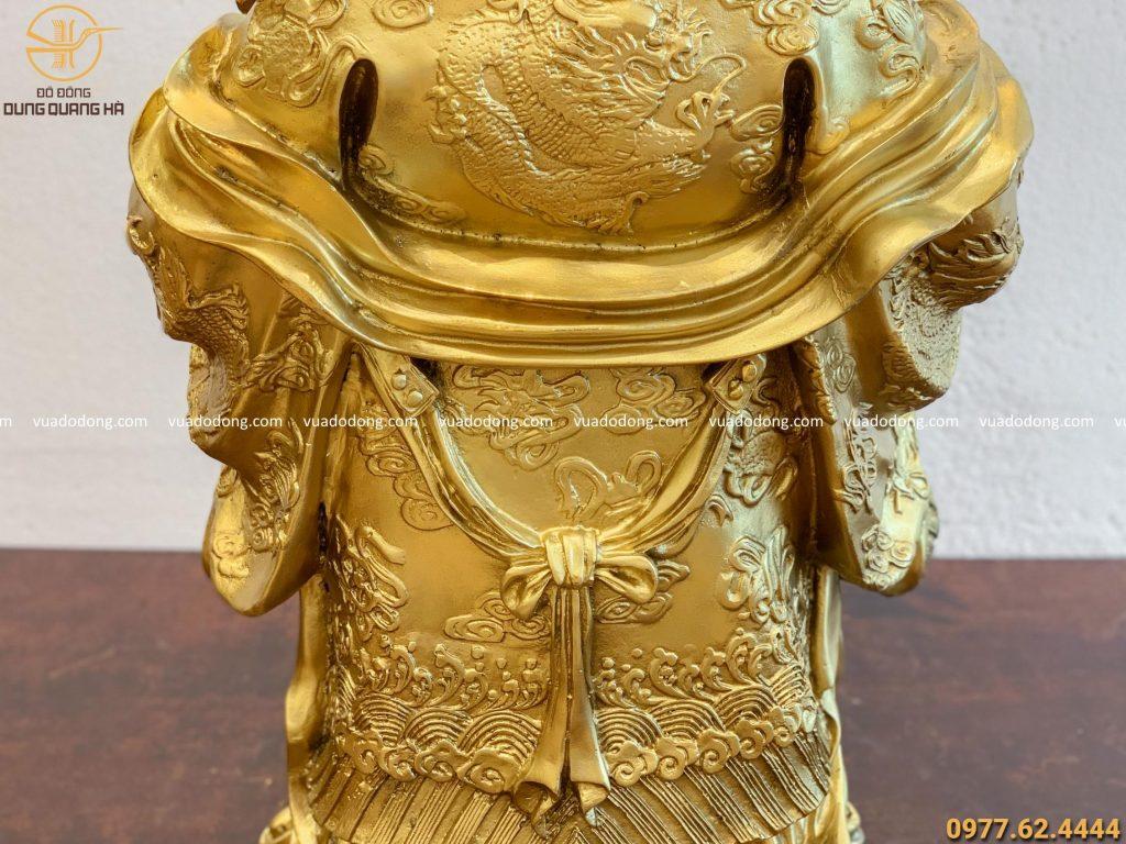 Tượng Ông Lộc bằng đồng vàng tinh tế