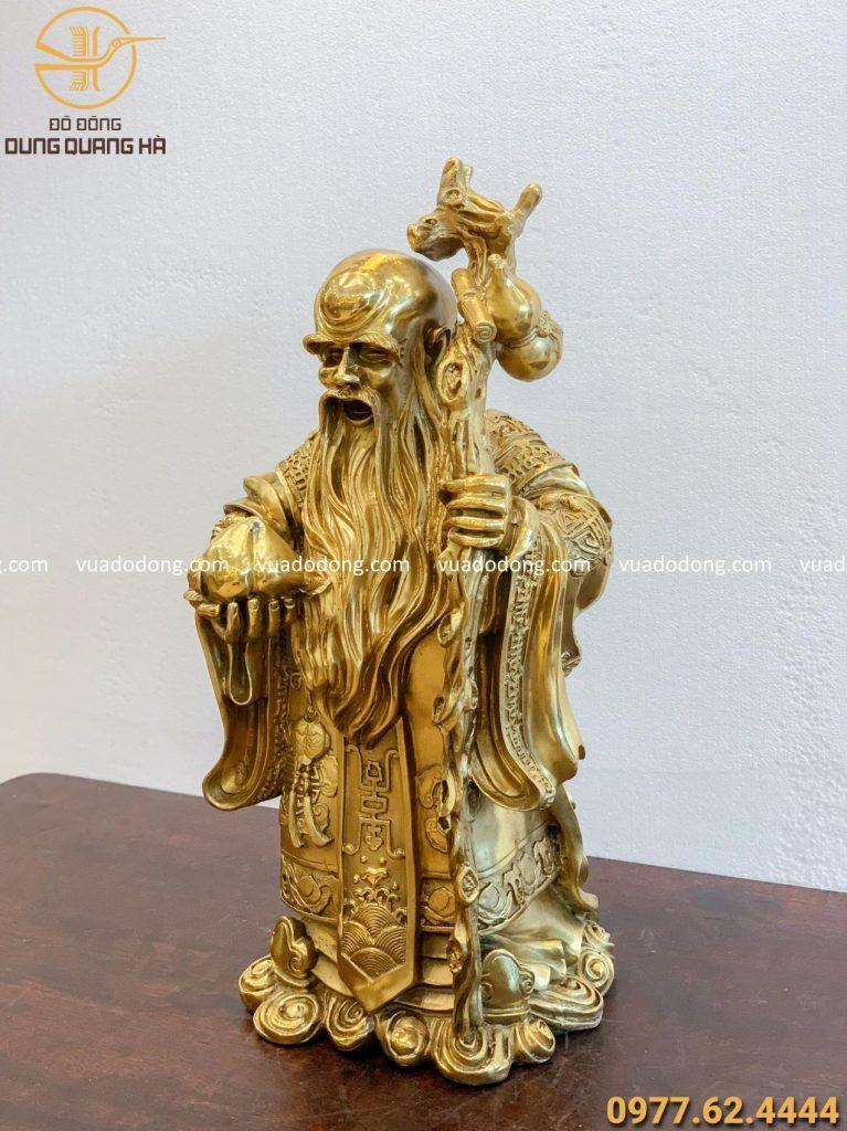 Tượng Ông Thọ bằng đồng vàng độc đáo