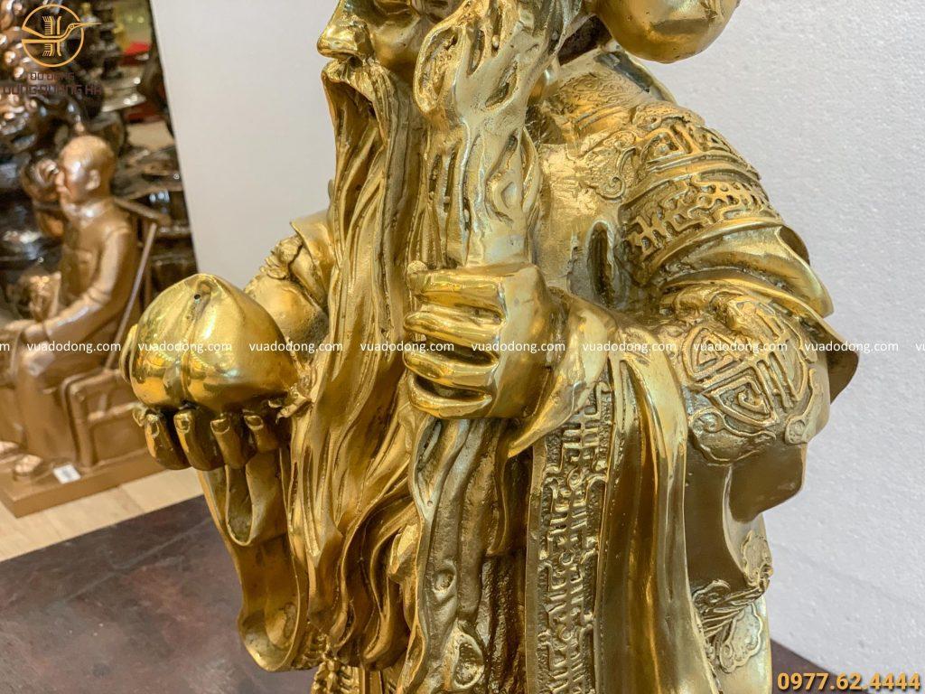 Tượng Ông Thọ bằng đồng vàng tinh tế