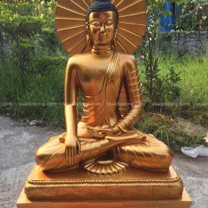 Tượng Phật Thích Ca bằng đồng đỏ (1)