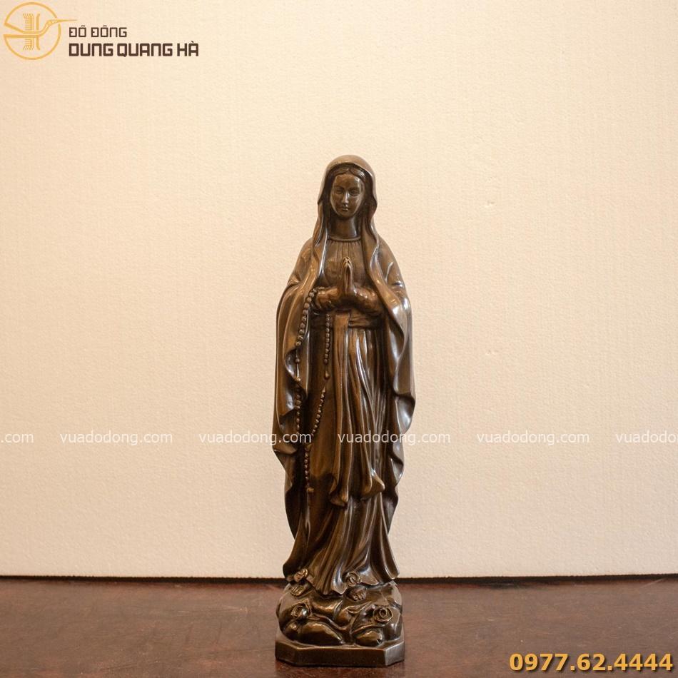 Tượng đức mẹ bằng đồng đỏ cao 40cm