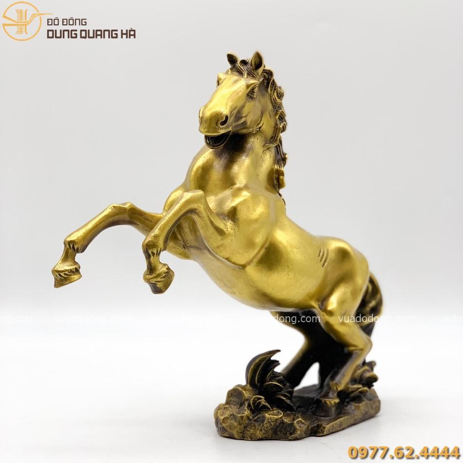 Tượng ngựa bằng đồng vàng cao 28cm