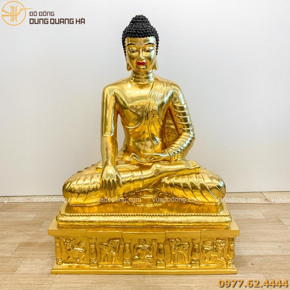 Tuong phat thich ca dong do dat vang 90cm (10)