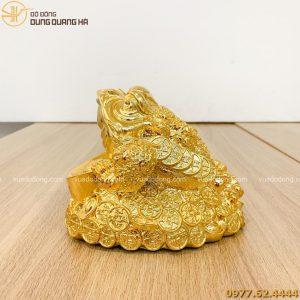 Tượng thiềm thừ mạ vàng 24k cao 14cm dàTượng thiềm thừ mạ vàng 24k cao 14cm dài 18cm (1)i 18cm (1)