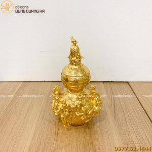 hồ lô bát tiên dát vàng 9999 cao 28cm (1)