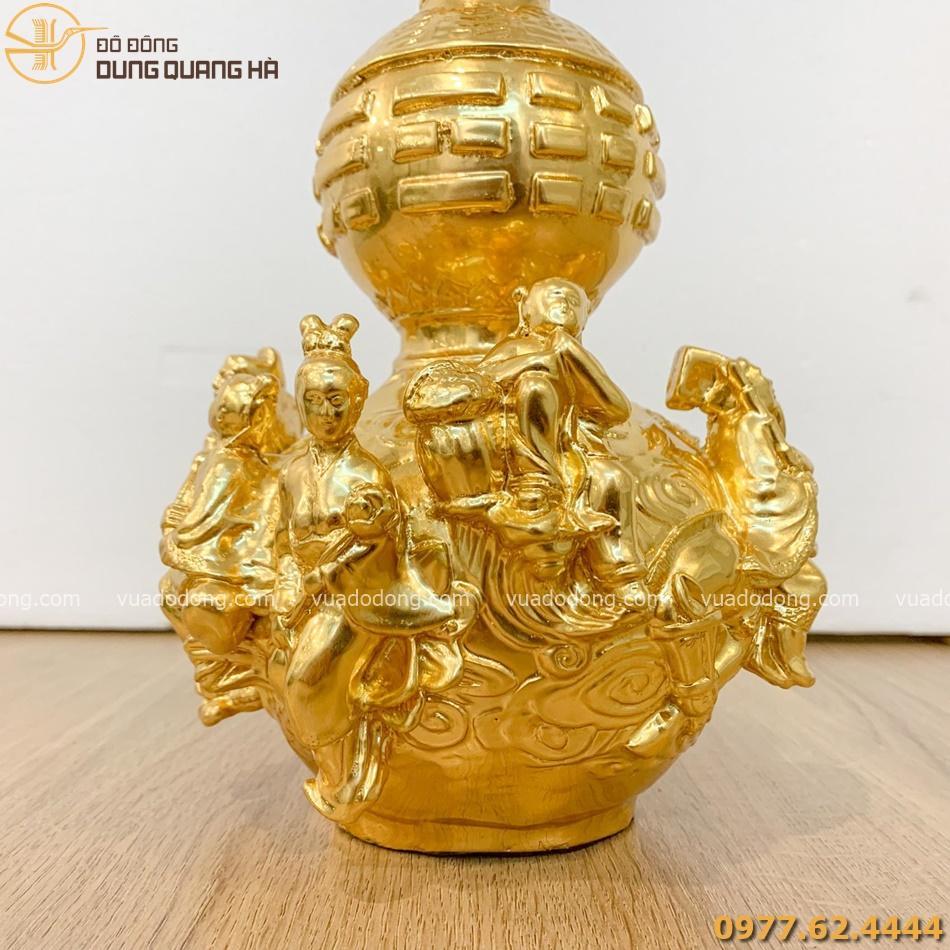 Hồ lô bát tiên dát vàng với thiết kế tinh tế