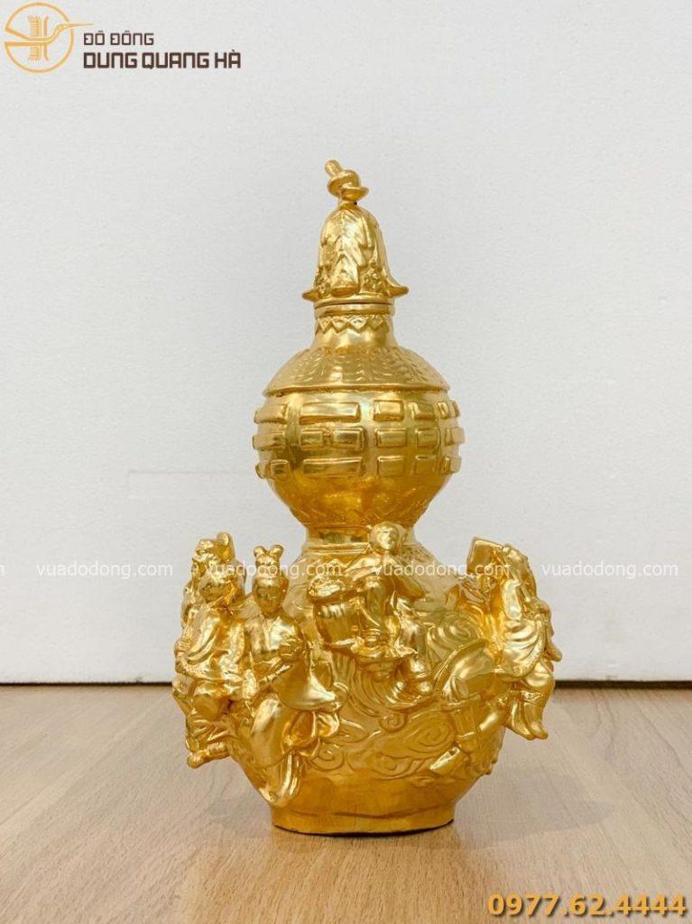 Hồ lô bát tiên dát vàng với tạo hình ấn tượng