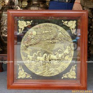 Tranh Mã đáo thành công bằng đồng vàng cao cấp