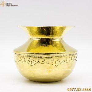 ống nhổ bã trầu bằng đồng vàng cao 10cm (3)