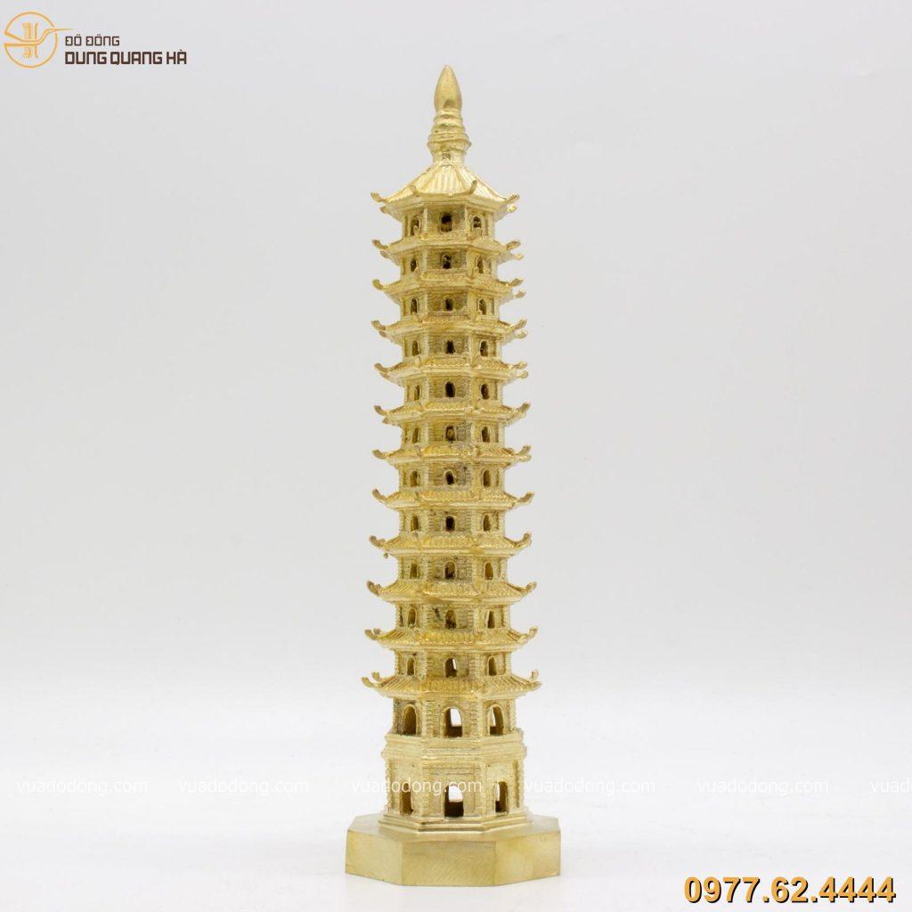 Tháp Văn Xương bằng đồng vàng 30cm
