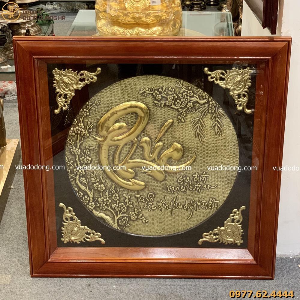 Tranh chữ Phúc dát vàng tinh xảo