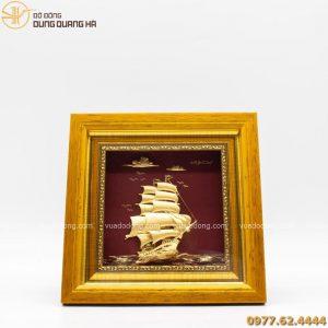 tranh thuyen buom luu niem ma vang 20cm (6)