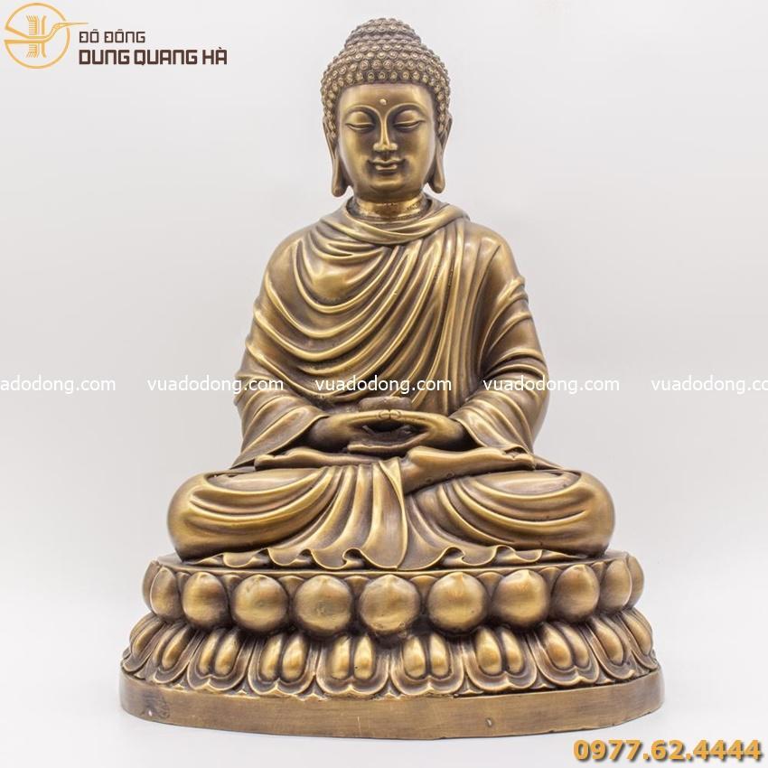 Tượng Phật Thích Ca bằng đồng vàng mộc