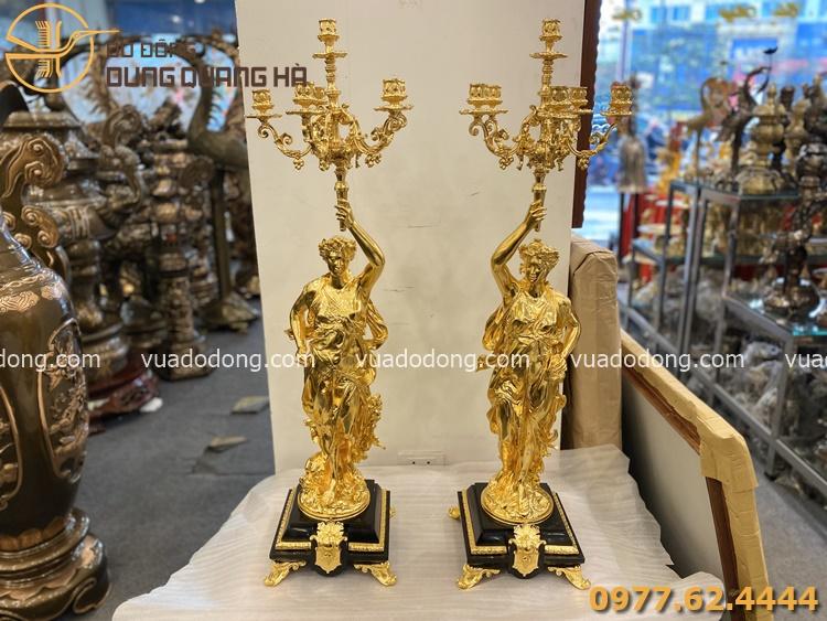 Tượng đồng nghệ thuật dát vàng 9999 sang trọng