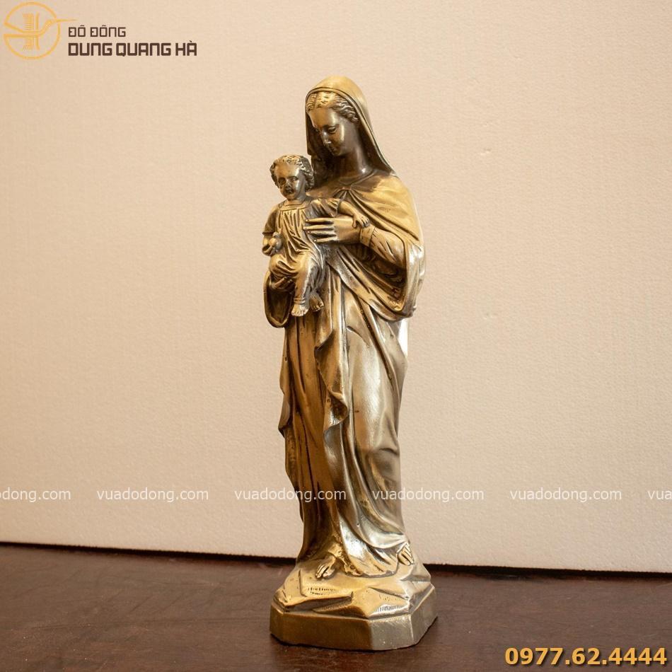 Tượng Đức Mẹ bế chúa 40cm