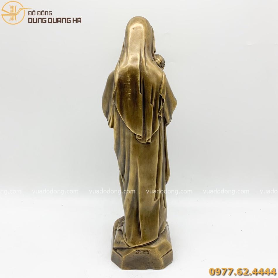 Tượng Đức Mẹ Maria bằng đồng vàng độc đáo