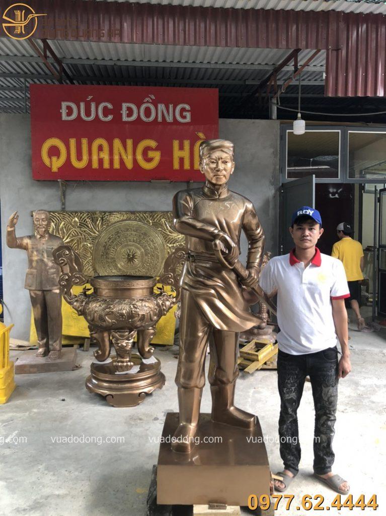 Tượng Nguyễn Trung Trực với thiết kế ấn tượng