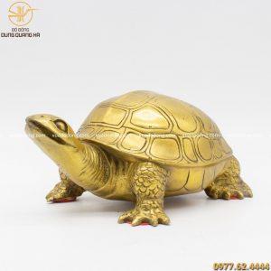 Hình ảnh tượng rùa đồng vàng 20cm