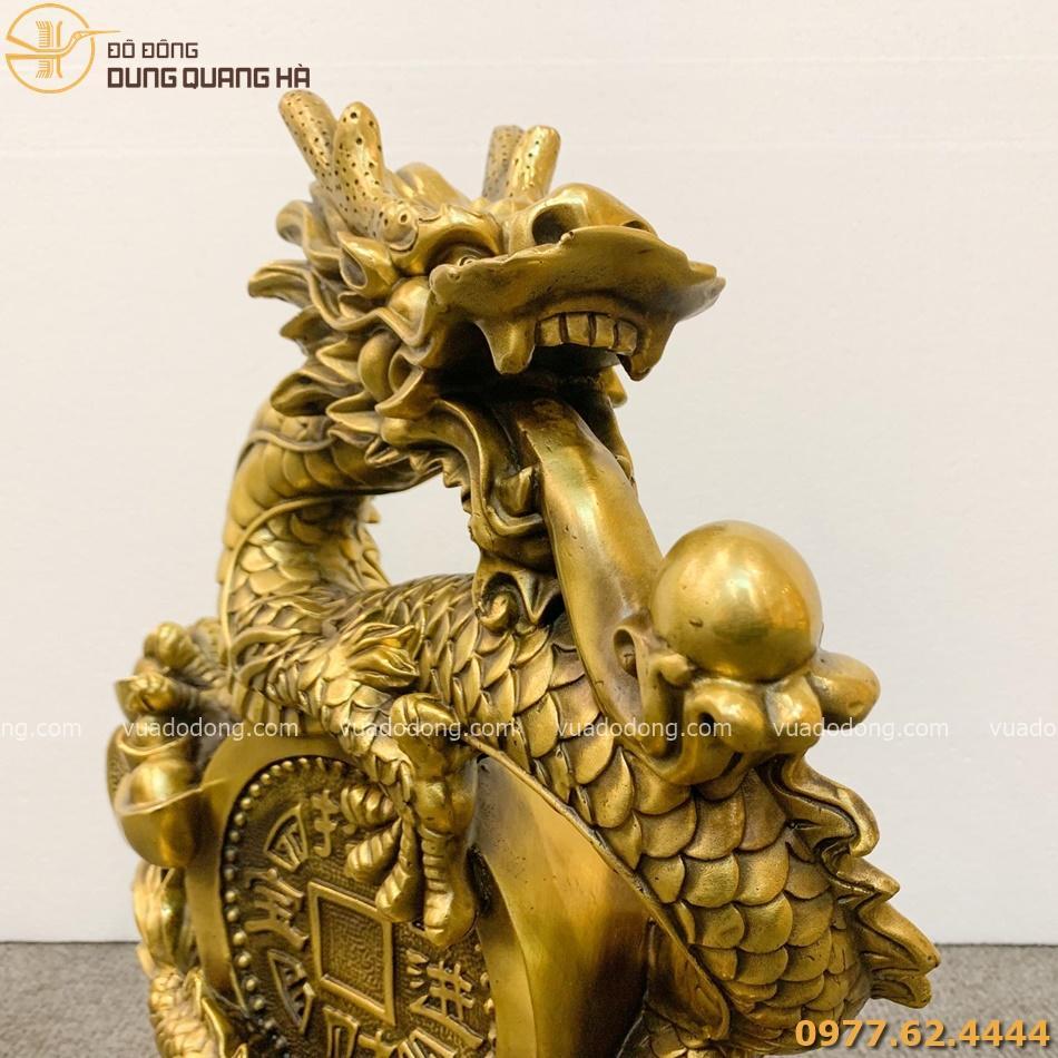 Tượng Rồng như ý nhả ngọc cao 40cm dài 32cm